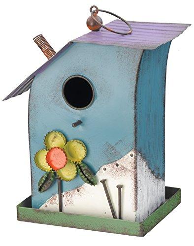 Regal Art And Gift Folk Birdhouse Blue