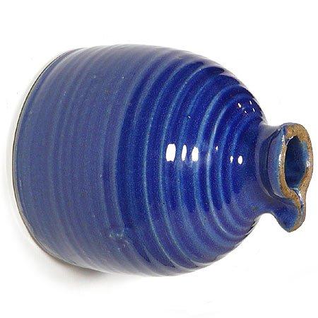 Stoneware Peek-a-boo Birdhouse Bottle Royal Blue Color