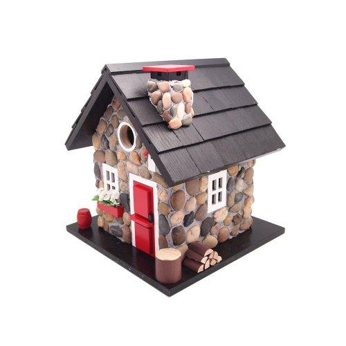 Home Bazaar Windy Ridge Birdhouse Stoneredblack