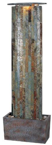 Kenroy Home 50255SL Waterwall IndoorOutdoor Floor Fountain in Natural Slate Finish