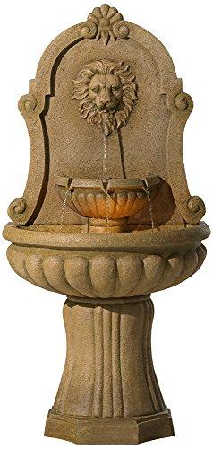 Savanna Lion 58&quot High Indoor - Outdoor Floor Fountain
