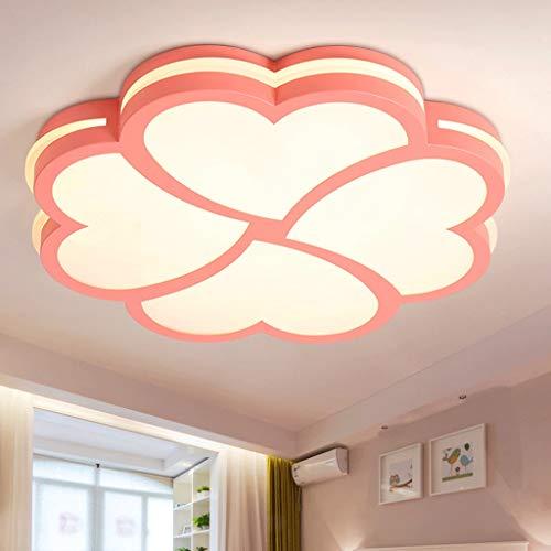 LED Color Flower Childrens Room Ceiling LampCartoon Creative Girl Bedroom Kindergarten Lamp Home Decoration AA Color  Pink Size  40cm24w