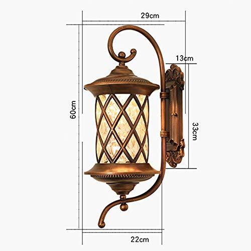 Mkjbd Wall Lantern Wall Light Wall-Mounted Lamp Lamps Outdoor Wall Lamps European-Style Villa Facades Creative Lamps Outdoor Garden Lamps Aisle Lamps Door 22 x 29 x 60Cm Pretty MM