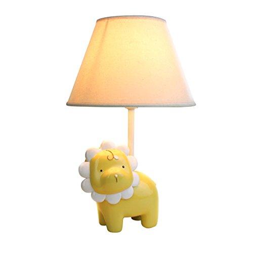 Table lamp Creative Children Yellow Simba Lion Bedroom Cartoon Modern Fashion Warm Cute Bedside lamp Reading lampA Size  4025cm 1574984inch