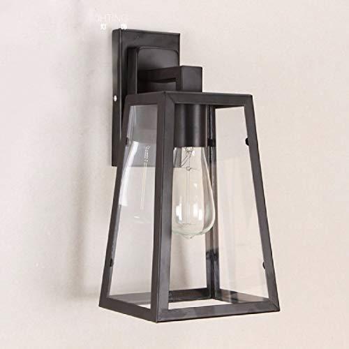 Wall Light European Outdoor Balcony Creative Lamp Glass Box Antique Aisle Art Decoration Trapezoidal Wall Lamp