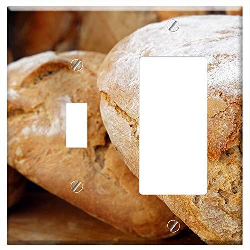 1-Toggle 1-RockerGFCI Combination Wall Plate Cover - Bread Wood Oven Bread Loaf Of Bread Bread Cru