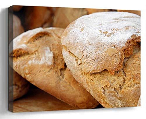 Wall Art Canvas Print Photo Artwork Home Decor 24x16 inches- Bread Wood Oven Bread Loaf of Bread Bread Cr