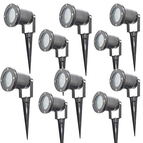 Lot of 10 Silbo SB8023 12V 3 Watt LED Outdoor Residential or Commercial Landscape Garden Waterproof Flood Light Fixture