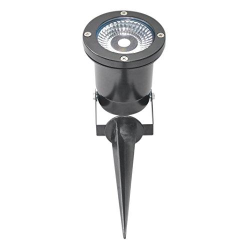 Silbo SB8310 Low Voltage 12V 5 Watt COB LED Residential or Commercial Landscape Waterproof Flood Light Fixture-5500K-40 Watt Equal