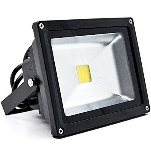 US Plug LED Flood Light Fixture Outdoor Lighting Daylight 20 Watts Replaces 100 Watt Metal Halide 120 volts LED Security Light