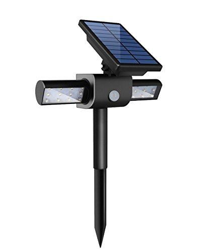 Upgraded360° USB Solar Spotlight Kumeda 24 Solar LED Outdoor light Wireless Security Solar Motion Sensor Light for Outdoor GardenPathDrivewayWallDeckPole Auto ONOFF Waterproof