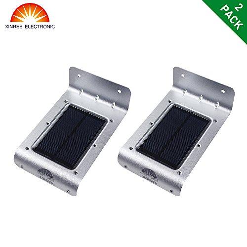 XINREE Solar Light Outdoor Solar PowerdWireless Waterproof Security Motion Sensor Light for Patio Deck Yard GardenDrivewayAuto OnOff