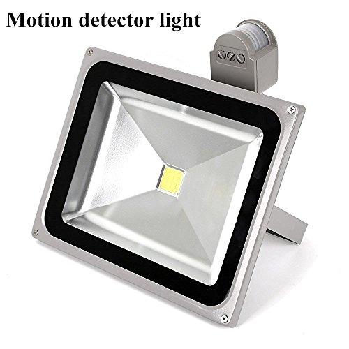 Led Motion Sensor Flood Light With Pir 50w Super Bright Outdoor Security Light 110v 120v Waterproof Flood Fixture