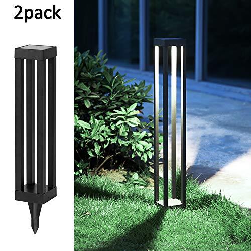 SHOO-IN Solar Light OutdoorSolar Path Lights,Auto OnOff Led Decorative Landscape Lighting Driveway Security Light for Yard Garden Patio Lawn Backyard2Pack
