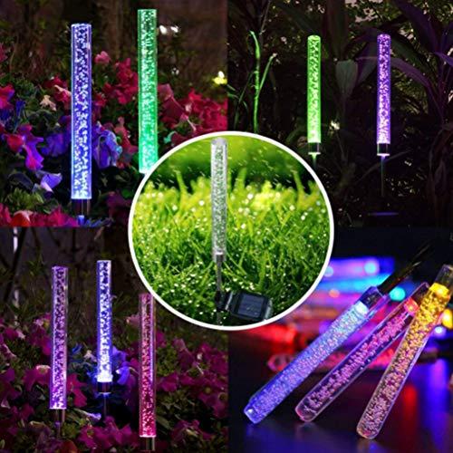 Uscyo Solar Garden Lights 1 Pieces Solar Garden Path Lights LED Garden Track Lights for Decorative Landscape Lighting Driveways Safety Lights Patio Lawn