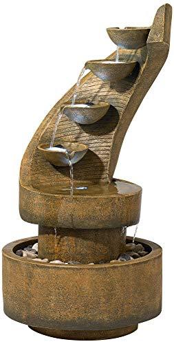 John Timberland Cascading 39 12 High Modern Zen Fountain with LED Lights