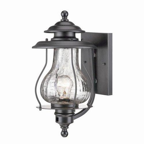 Acclaim 8201bk Blue Ridge Collection 1-light Wall Mount Outdoor Light Fixture Matte Black