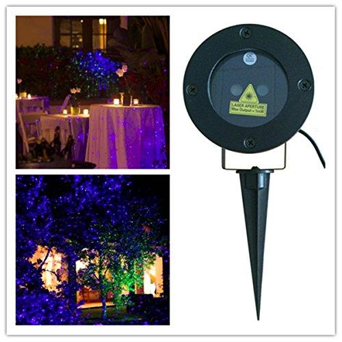Srocker Xlbg Garden Laser Light Static Blue&ampgreen Star Projector Waterproof Firefly Lights Outdoor Laser Christmas