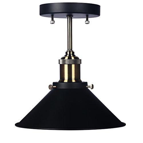 Trylight Industrial Black Metal Pendant Lighting Fixture Vintage Pendant Light Shade 1-light For Dining Roomkitchen