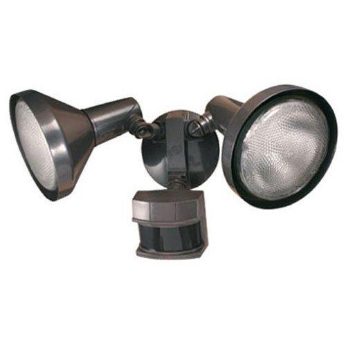 Heath Zenith HZ-5318-BZ Motion-Sensing Shielded Wide-Angle Twin Security Light Bronze