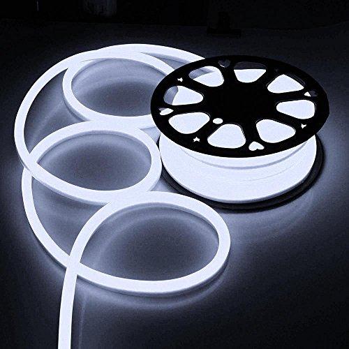 50ft 110v Flex Led Neon Rope Light Indoor Outdoor Holiday Valentine Decoration Lighting Cool White