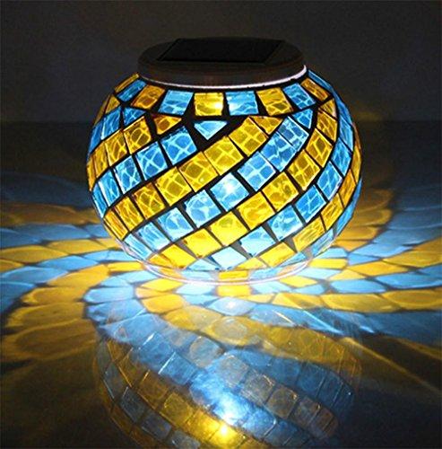 Safebao Led Solar Powered Night Light Mosaic Color Changing Lights Waterproof Lighting Led Rgb Solar Table Lamp