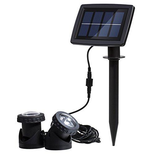 Docooler&reg Solar Powered Super Bright 2 Underwater Lamps 12 Leds Light Sensor Projector Light Garden Pool Pond