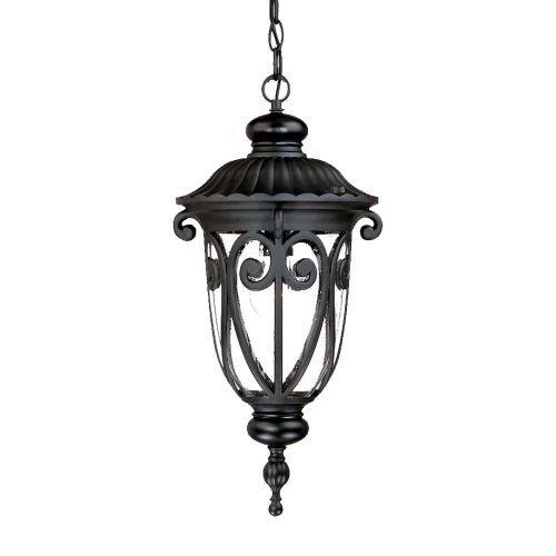Acclaim 2116BK Naples Collection 1-Light Outdoor Light Fixture Hanging Lantern Matte Black