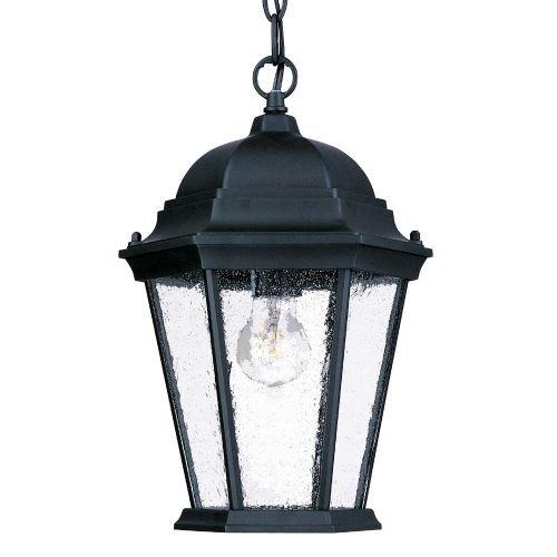 Acclaim 5206BKSD Richmond Collection 1-Light Outdoor Light Fixture Hanging Lantern Matte Black