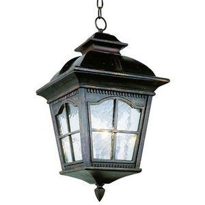 Trans Globe Lighting 5421 AR 21-14-Inch 3-Light Outdoor Medium Hanging Lantern Antique Rust