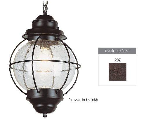Trans Globe Lighting 69906 RBZ 1-Light Hanging Lantern Rustic Bronze