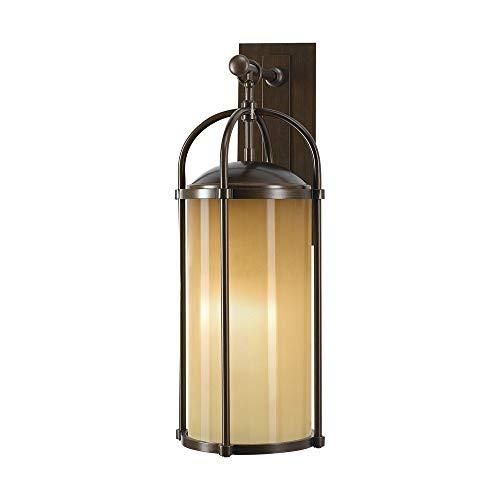Murray Feiss Lighting OL7602HTBZ Dakota - One Light Outdoor Wall Bracket Heritage Bronze Finish with Aged Oak Glass