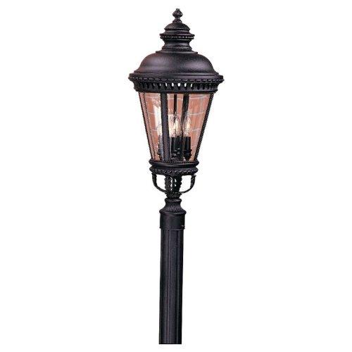Murray Feiss OL1908BK Castle Outdoor Post Lighting 240 Watts Black Includes Mini Desk Fan