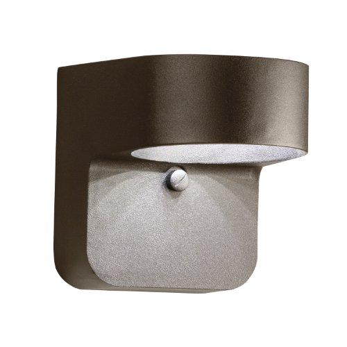 Kichler Lighting 11077azt Energy Efficient 1-light Led Outdoor Wall Mount Fixture Textured Architectural Bronze