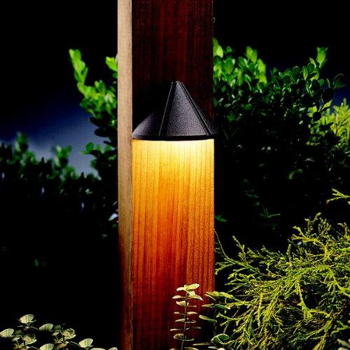 Kichler Lighting 15065azt Mini Deck Light 12-volt Deck And Patio Light Textured Architectural Bronze