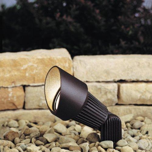 Kichler Lighting 15309azt 12-volt Low Voltage Accent Light With Heat Resistant Flat Glass Lens Textured Architectural