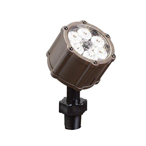 Kichler Lighting 15742azt Led Accent Light 6-light Low Voltage 35 Degree Flood Light Textured Architectural Bronze