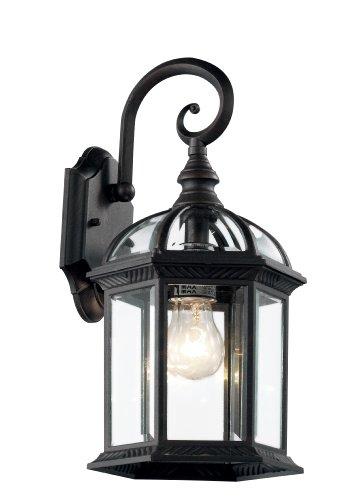 Trans Globe Lighting 4181 Bk Wentworth 16&quot Black Wall Lantern