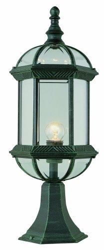 Trans Globe Lighting 4182 RT 21-Inch 1-Light Outdoor Pier Base Lantern Rust