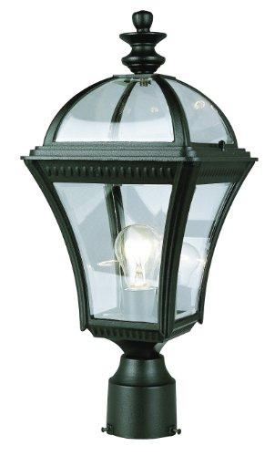 Trans Globe Lighting 5085 Bk 1-light Post Lantern Black