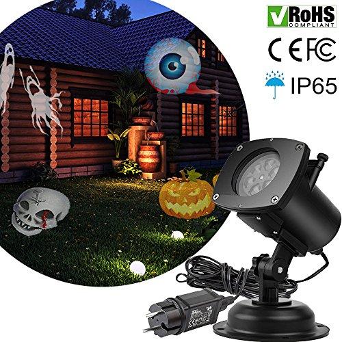 Christmas Projector Lights 12 Pattern Led Halloween Spotlights Waterproof Garden Lamp Lighting Landscape Projection
