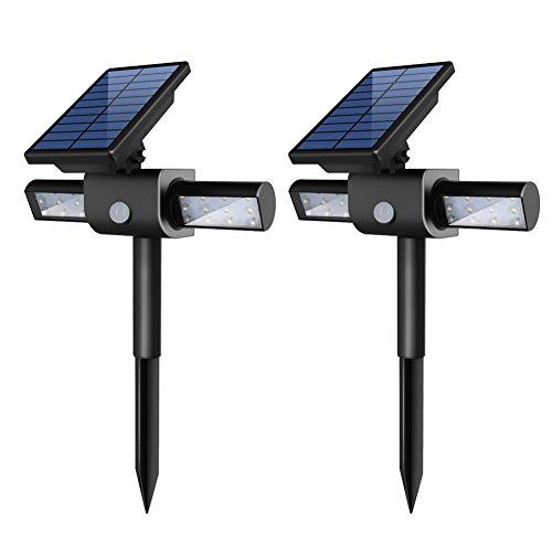 Innogear 360&deg Usb Solar Lights With Dual Head Waterproof Outdoor Landscape Lighting Garden Light Pack Of 2