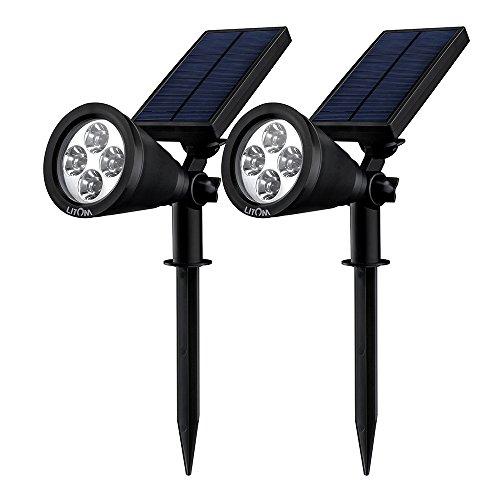 Solar Spotlights Litom Adjustable Led Outdoor Landscape Solar Lights Waterproof Security Lighting Dark Sensing