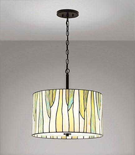 Barossa 18ø 3-Lights Tiffany Pendant Light - Green