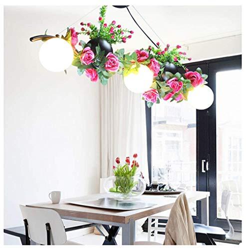 Chandelier Vintage Industrial Style Pendant Light Green Plant Ceiling Lighting Restaurant Cafe Restaurant Hang Lamp Fixture Chandelier K-L