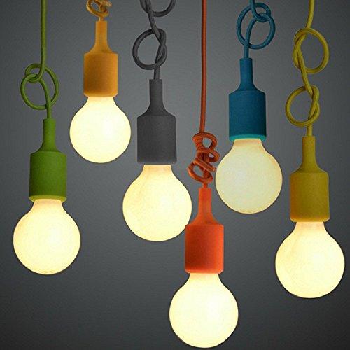 Qiaoba- Retro Lighting Living RoomBedroomKitchenBarRestaurantAisleBalcony Silicone Small Pendant Light green