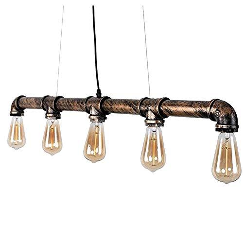 Retro Vintage Chandelier Pendant Light Bar Hallway Personality Dinning Room Pendant Lamp-Green Bronze 90cm35in