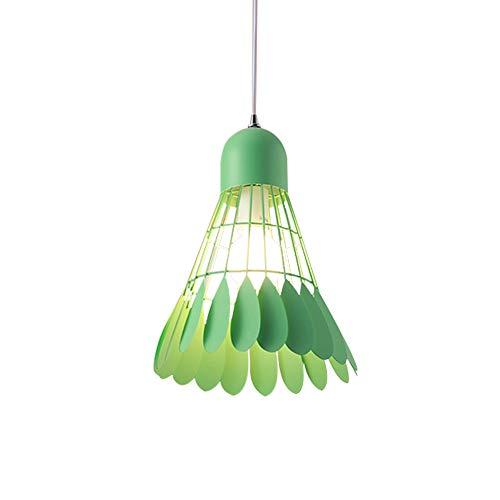 Tuls-63072 Modern Fashion Pendant Lamp Green Iron Badminton-Shaped Lampshade Living Room Pendant Light