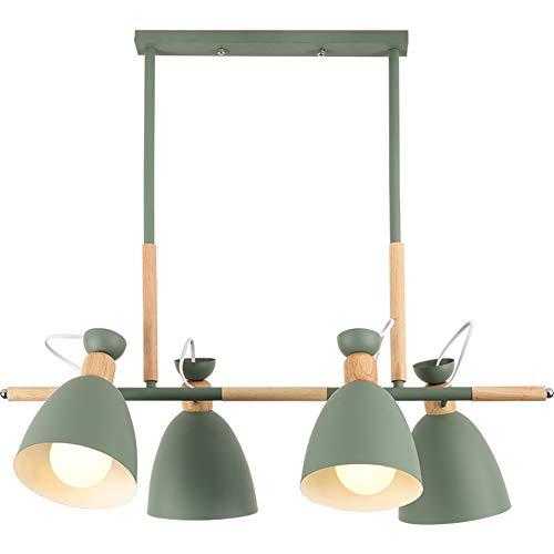 YAYONG Chandelier Nordic Modern Minimalist Creative Living Room Study Home Horse Wood Dining Room Pendant LightGreen