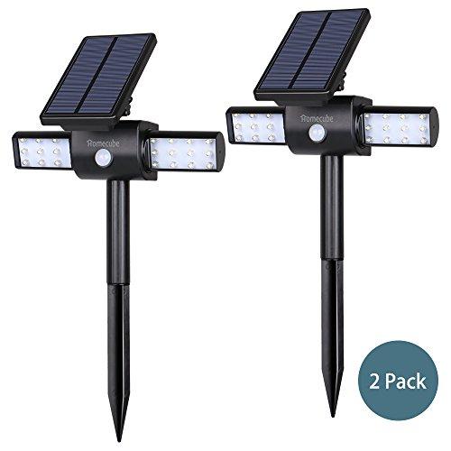 Solar Lights, Homecube Landscape Lighting Solar Garden Lights Solar Power Outdoor Lighting Rotatable 24 Leds Spotlight